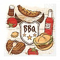 BARBEQUE Napkins 33x33cm TISSUE - 600pcs.