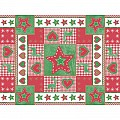 LOTTA Xmas PlaceMats 40x30cm AIRLAID red/green - 200pcs.