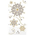 CRISTAL Napkins Christmas 33x33cm 1/8fold TISSUE brown - 600pcs.