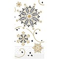CRISTAL Napkins Christmas 33x33cm TISSUE black - 600pcs.