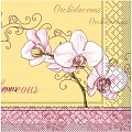 ORCHIDEE Napkins 40x40cm TISSUE yellow/burgundy - 600pcs.