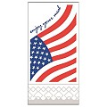 USA Napkins 40x40cm 1/8fold TISSUE white/red/blue - 750pcs.