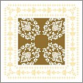 PASCAL Coasters 90x90mm 9ply TISSUE gold - 1500pcs.