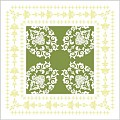 PASCAL Coasters 90x90mm 9ply TISSUE green - 1500pcs.
