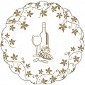 WINE Coasters Ø105mm TISSUE/PE gold- 1400pcs.