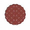 UNI Coasters Ø80mm 9ply TISSUE burgundy- 1500pcs.