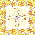 YESSIKA Table Cloths 80x80cm LINCLASS-Airlaid yellow/curry - 60p