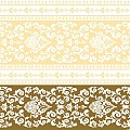 PASCAL Napkins 40x40cm LINCLASS-AIRLAID gold/cream - 300pcs.