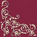 POMP Napkins 40x40cm AIRLAID bordeaux/cream - 300pcs.