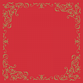 POMP Xmas Table Cloths 80x80cm LINCLASS gold/red - 60pcs.