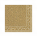 GOLD Xmas Napkins 33x33cm TISSUE gold - 600pcs.