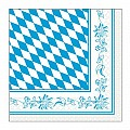 BAVARIA Napkins 33x33cm TISSUE white/blue - 600pcs.