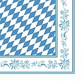 BAYERN Table Cloths 80x80cm LINCLASS-Airlaid blue/white - 60pcs.
