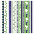 COMMUNION Napkins 40x40cm LINCLASS blue/green - 300pcs.