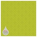 DAMAST Table Cloths 80x80cm PEARL COATING kiwi - 45pcs.