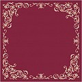 POMP Table Cloths 80x80cm LINCLASS burgundy/ivory - 60pcs.