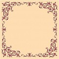 POMP Table Cloths 80x80cm AIRLAID ivory/burgundy - 60pcs.