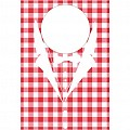 KARO Bibs 42x60cm NONWOVEN red/white - 200pcs.