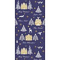 ELLA Table Runners Christmas 40cmx24lfm LINCLASS blue - 4pcs.