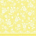 Napkins LACE 40x40cm 1/4fold LINCLASS-Airlaid yellow - 300pcs.
