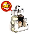 Pepper&Salt/Vinegar&Oil Menage PRO 13x11cm/height19cm StainlessS