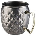Barrel Mug MOSCOW MULE Ø9,5cm/height10cm StainlessSteel - 1pc.