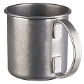 Barrel Copper Mug Ø9cm/height9cm Stainless Steel antique - 1pc.