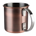 Barrel Copper Mug Ø9cm/height9cm Stainless Steel - 1pc.