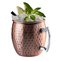 Barrel Copper Mug Ø9cm/height10cm StainlessSteel - 1pc.