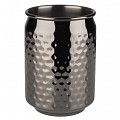 Barrel Mug COOL Ø7,5cm/height10,5cm Stainless Steel gunmetal - 1