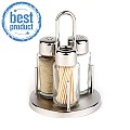 BEST! Salt&Pepper Menage CLASSIC Ø10cm/h16cm StainlessSteel 1pc.