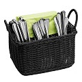 Basket ECONOMIC 26x18cm/height15cm PP-Plastic black - 1pc.