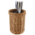Cutlery Basket Ø12cm/height15cm PP-Plastic brown - 1pc.