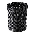 Cutlery Basket Ø12cm/height15cm PP-Plastic black - 1pc.