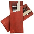 POCHETTO Cutlery bags including Napkin 20x8,5cm bordeaux 520pcs
