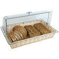 Basket ECONOMIC 56,5x36cm/height10cm PP-Plastic beige - 1pc.