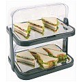 Buffet Showcase 44x32cm/H44cm StainlessSteel/Plastic black - 1pc