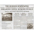 PlaceMats NEWSPAPER 40x30cm Paper grey - 500pcs.