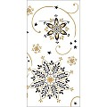 CRISTAL Pocket Napkins Christmas 1/8Fold LINCLASS black - 300pcs