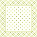 Coasters ANTONIA 95x95mm TISSUE with PE lime - 1000pcs.