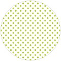 Coasters ANTONIA Ø90mm round TISSUE with PE lime - 1000pcs.
