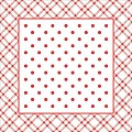Coasters ANTONIA 95x95mm TISSUE with PE red - 1000pcs.
