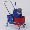 Double Trolley 2x17ltr 70x42cm/height89cm chrome plated - 1pc.