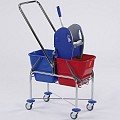 Double Trolley TOP 2x17ltr 70x42x107cm chrome plated - 1pc.