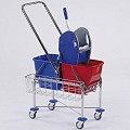 Double Trolley 2x17ltr Height107cm chrome plated - 1pc.