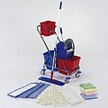 Cleaning Kit 2x17ltr. height89cm chrome plated - 1pc.