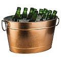 Beverage Tub TIN 11liter 40x28cm/height22cm METAL copper - 1pc.