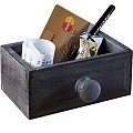 Woodbox VINTAGE 11,5x7,5cm/height5cm Wood grey - 1pc.