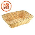 Basket rectangular BASIC 22x15cm/height6cm PP/Plastic beige 1pc.