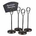 Table Stands Ø5cm/height15,5cm Stainless Steel black - 4pcs.